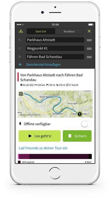 Plan und bearbeite Touren direkt auf deinem iPhone.