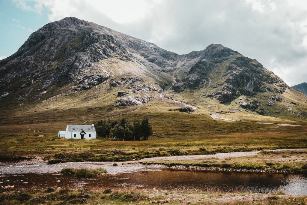 A Scottish bothy near Glencoe.