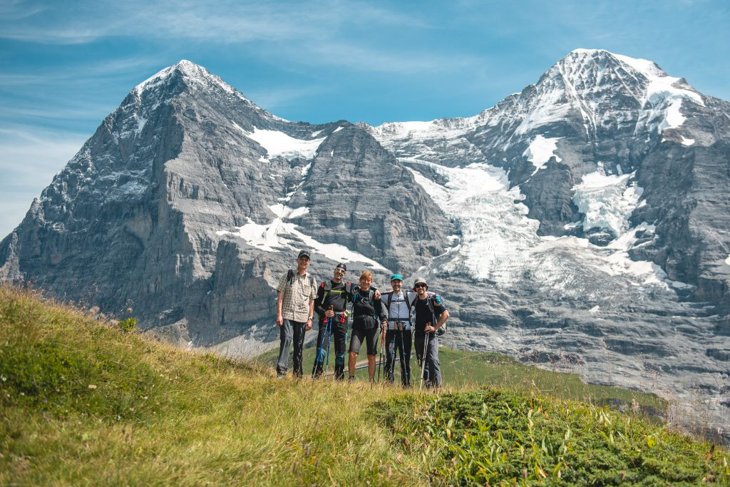 Pioneers hiking in Grindelwald